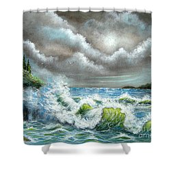 Sea Of Smiling Faces Shower Curtain by Patrice Torrillo