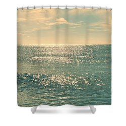 Sea Of Tranquility Shower Curtain by Laura Fasulo
