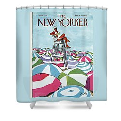 Sea Of Umbrellas Shower Curtain