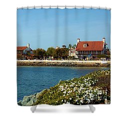 Shower Curtain featuring the photograph Sea Port Village San Diego by Jasna Gopic