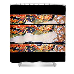Sea Serpent IIi Tryptic After Gustav Klimt Shower Curtain