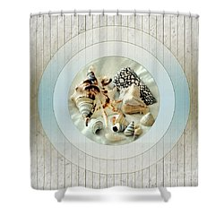 Sea Shells- Porthole No1 Shower Curtain