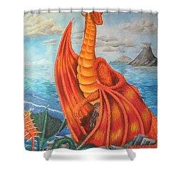 Sea Shore Pair Shower Curtain