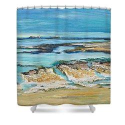 Sea Sky And Beach Shower Curtain