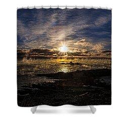Sea Smoke Panorama Shower Curtain by Marty Saccone