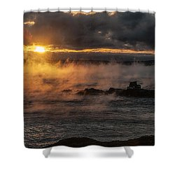 Sea Smoke Sunrise Shower Curtain by Marty Saccone