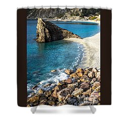Sea Stack Of Monterosso Shower Curtain