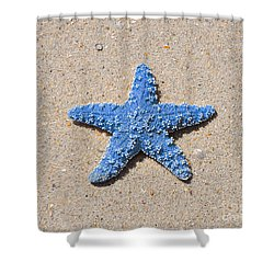 Sea Star - Light Blue Shower Curtain