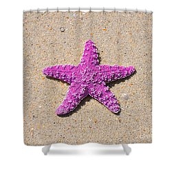 Sea Star - Pink Shower Curtain by Al Powell Photography USA