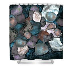 Sea Stones Shower Curtain by Christine Fournier