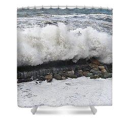 Sea Storm  Shower Curtain by Antonio Scarpi