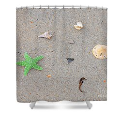 Sea Swag - Green Shower Curtain by Al Powell Photography USA