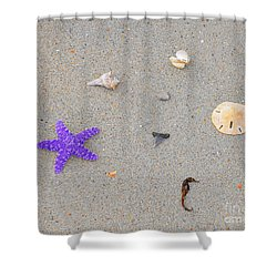 Sea Swag - Purple Shower Curtain by Al Powell Photography USA