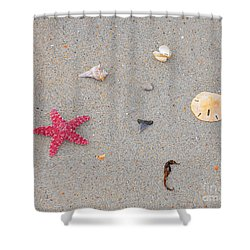 Sea Swag - Red Shower Curtain