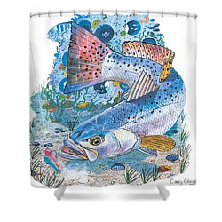 Sea Trout Wreck Shower Curtain by Carey Chen