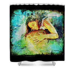 Shower Curtain featuring the digital art Sea Turtle Love by Absinthe Art By Michelle LeAnn Scott