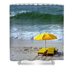 Shower Curtain featuring the photograph By The Sea Waiting For Me by Nava Thompson