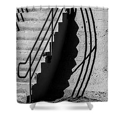Sea Wall Shadow Shower Curtain by Perry Webster