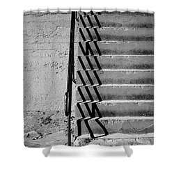 Sea Wall Steps Shower Curtain