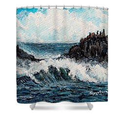 Shower Curtain featuring the painting Sea Whisper by Shana Rowe Jackson