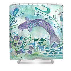 Sea World -painting Shower Curtain by Veronica Rickard