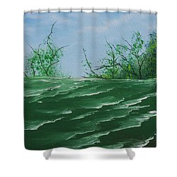 Seafoam Surf Shower Curtain