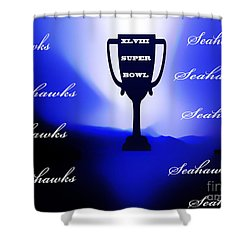 Seahawks Super Bowl Champions Shower Curtain by Eddie Eastwood