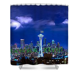 Seahawks Xlviii Shower Curtain