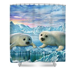 Seal Pups Shower Curtain by Adrian Chesterman