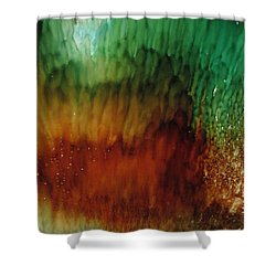 Shower Curtain featuring the painting Sealife by Kathy Sheeran