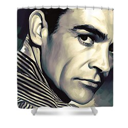 Sean Connery Artwork Shower Curtain by Sheraz A