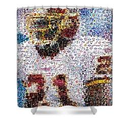 Sean Taylor Mosaic Shower Curtain by Paul Van Scott