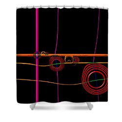 Shower Curtain featuring the digital art Seance Saturday by Wendy J St Christopher