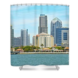 Seaport Village And Downtown San Diego Buildings Shower Curtain