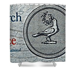 Search For Peace Shower Curtain by Bill Owen