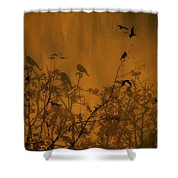 Searching For Spring Shower Curtain by Diane Schuster
