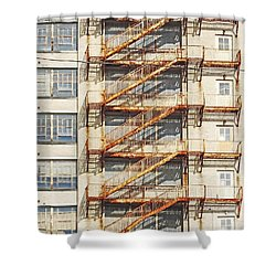 Sears Crosstown Fire Escape Memphis Tn Shower Curtain