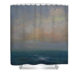 Seascape - A Nereid Sighting Shower Curtain