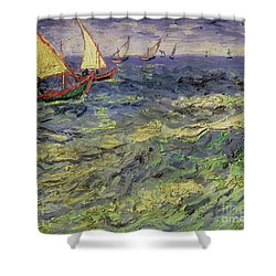 Seascape At Saintes-maries 1888 Shower Curtain by Vincent van Gogh