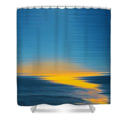 Seascape At Sunset Shower Curtain by Ben and Raisa Gertsberg