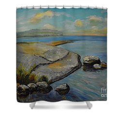 Seascape From Hamina 1 Shower Curtain