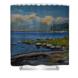 Seascape From Hamina 2 Shower Curtain