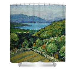 Seascape From Kavran Shower Curtain