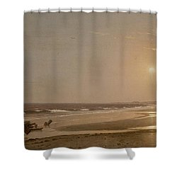 Seascape Shower Curtain by William Trost Richards