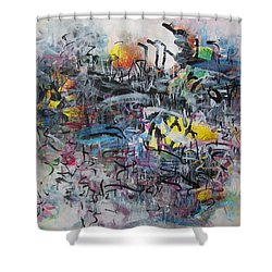 Seascape225 Shower Curtain by Seon-Jeong Kim