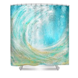 Seascapes Abstract Art - Mesmerized Shower Curtain