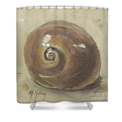 Seashell Beach Moon Shell Snail  Shower Curtain
