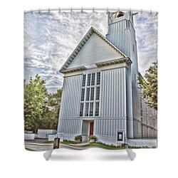 Seaside Chapel Shower Curtain by Scott Pellegrin