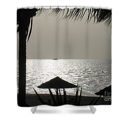Seaside Dinner For Two Shower Curtain by Patti Whitten