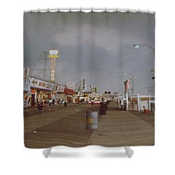 Seaside Heights Storm Shower Curtain by Joann Renner